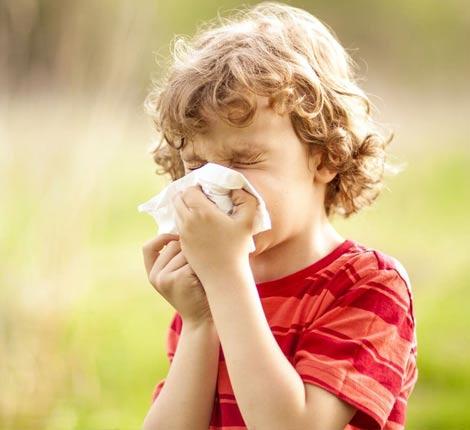 Увеличение температуры тела. Это указывает на обычный насморк. Температура при аллергии у детей не увеличивается, не превышая 37°С.